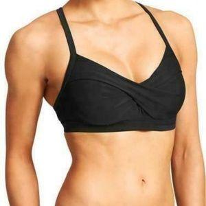 Athleta Twister Bikini Top Size 38 D/DD Black